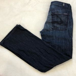7 For All Mankind High Waisted Bootcut Dark Wash